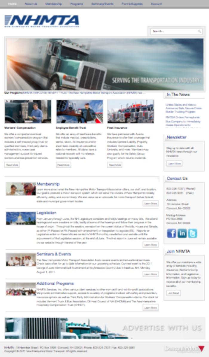 NH Nonprofit Website Design | New Hampshire Motor Transport