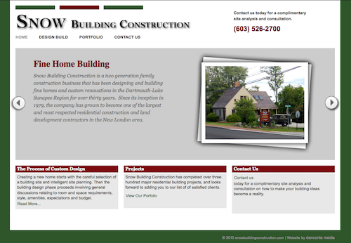 NH Construction Company Launches New Website Design by
